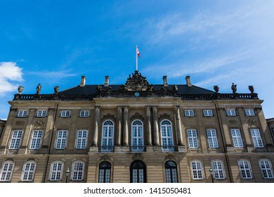Royal family palace, Amalienborg Palace of copenaghen, Danmark, europe.