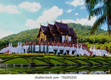 Royal flora garden in Chiang Mai.