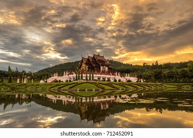 Royal Flora, Ratchaphruek Park. A large botanical garden, located at the Royal Agricultural Research Center at Chiang Mai Province, Thailand.