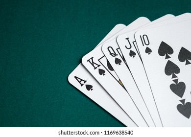 Royal flush combination cards on Poker game