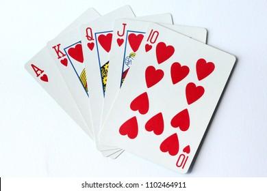 A royal flush deck of cards - poker