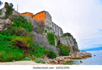the royal fortification  Island Sainte-Marguerite cannes france