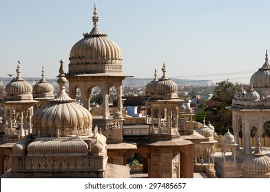 Royal Gaitor tumbas view, Jaipur, India