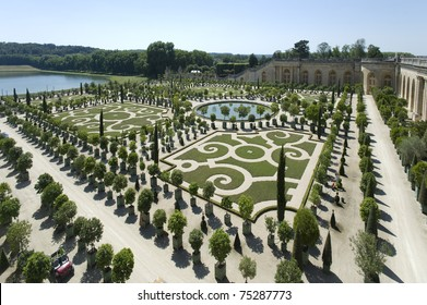 Royal Garden and Fountain inside Palace de Versailles, France, UNESCO