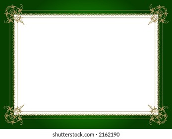 Royal golden border with white space