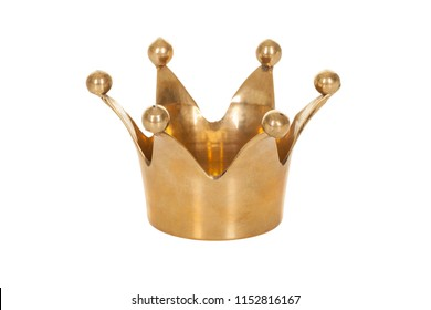 Royal golden crown isolated on white background