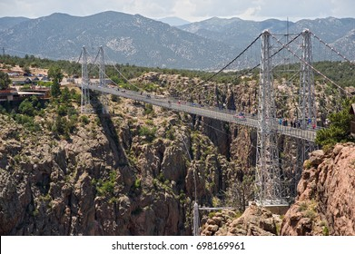 The Royal Gorge Bridge, one of the world's highest suspension bridges, crosses the canyon 956 feet above the Arkansas River and is considered one of the natural wonders of the world.