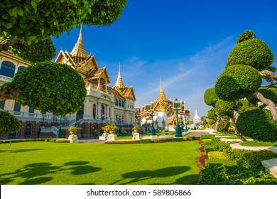 Royal grand palace temple emerald architecture at bangkok, Thailand