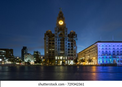 Royal Liver Building, Liverpool before Dawn