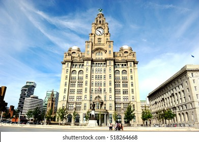 Royal liver building in Liverpool, England, UK