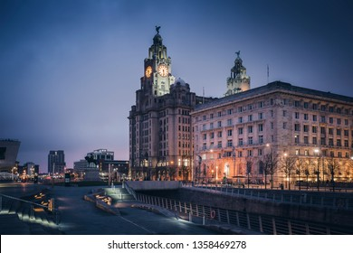Royal Liver Building in  Liverpool, North West England, UK.