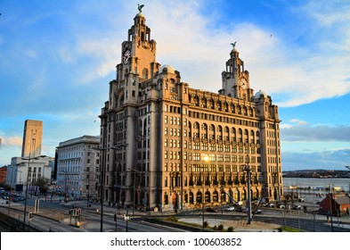 The Royal Liver Building on the Pierhead at Liverpool