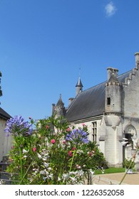 The royal Lodge. the Renaissance building seen from the garden of the promontory. Loches, France