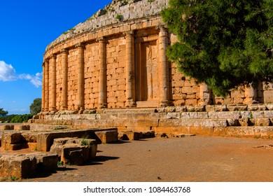 The Royal Mausoleum of Mauretania, the tomb of the Berber King Juba II and Queen Cleopatra Selene II, Tipaza Province, Algeria.