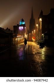 The Royal Mile, Edinburgh at night