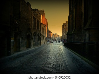 Royal Mile at sunrise