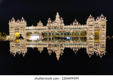 The royal mysore palace during dusara