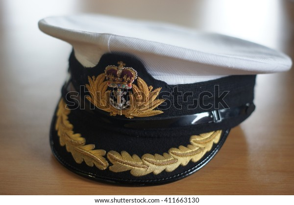 Royal Naval Officers Cap Hms Protector Stock Photo (Edit Now