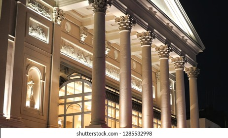 Royal Opera House in London by night