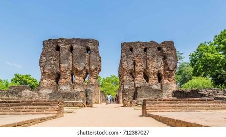 The Royal Palace at the ancient city of Polonnaruwa, the medieval capital of Sri Lanka
