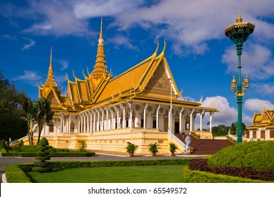 The royal palace in Cambodias capital Phnom Penh