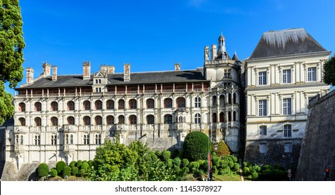 The Royal Palace of Castle of Blois (Chateau de Blois). Included in the top ten castles of the  Loire Valley, France, Blois.