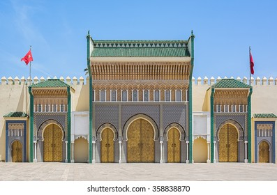 Royal Palace entrance in Fes, Morocco.