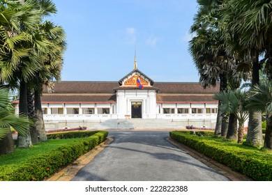 Royal Palace Haw kham of the National museum complex of Luang Prabang, Laos.