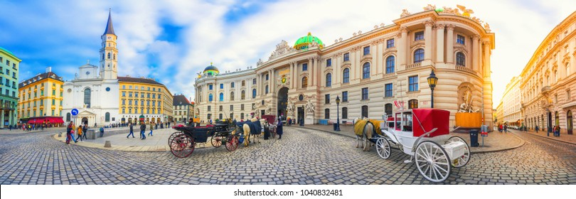 Royal Palace of Hofburg in Vienna, Austria on February 20, 2018.