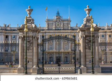 The Royal Palace of Madrid (Palacio Real de Madrid), official residence of the Spanish Royal Family at the city of Madrid, Spain.