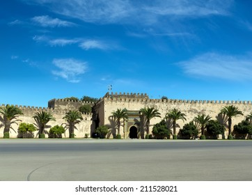 The royal palace in Meknes, Morocco