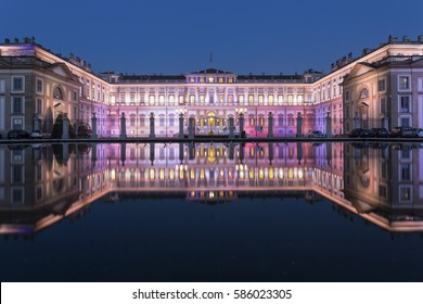 Royal Palace of Monza in the evening