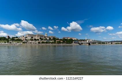 The Royal Palace on sunny day, Budapest