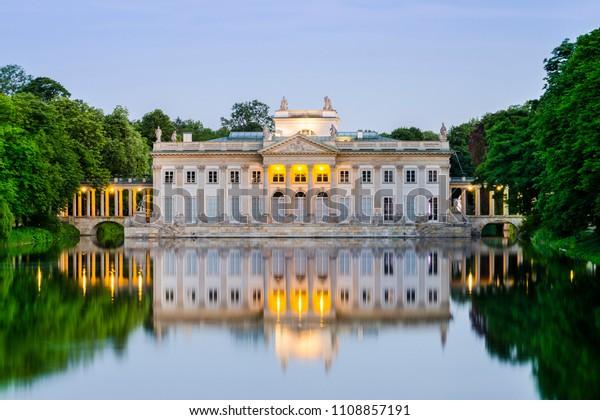 Royal Palace On Water Lazienki Park Stock Photo Edit Now