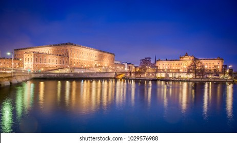 The Royal Palace and the Parliament building, Stockholm, Sweden