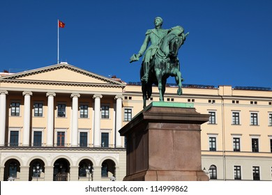 The Royal Palace (Slottet) in Oslo, the capital of Norway
