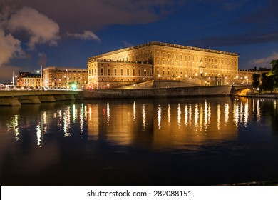Royal palace of Sweden at evening. Stockholm.