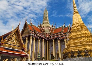 Royal Pantheon at Wat Phra Kaew, Bangkok, Thailand.