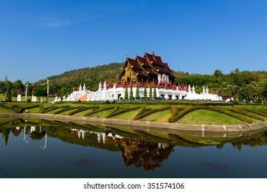 Royal park Rajapruek at Chiang Mai in Thailand
