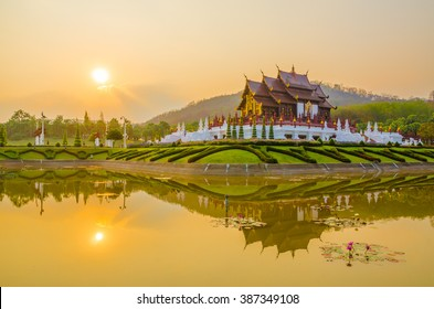 The Royal Pavilion (Ho Kham Luang) in Royal Park Rajapruek near Chiang Mai, Thailand