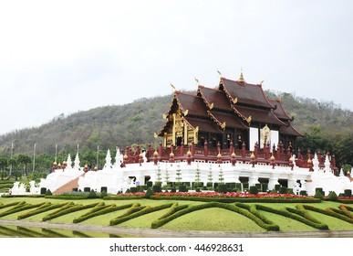 Royal Pavilion in Royal Park Rajapruek in chiangmai thailand