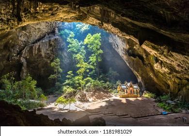 Royal pavilion in Phraya Nakorn cave, National Park Khao Sam Roi Yot, Thailand in a summer day