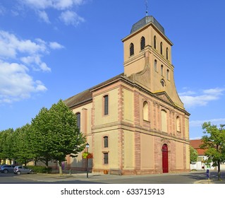 Royal Saint-Louis Church in Neuf-Brisach, Fortifications of Vauban - Alsace, France, UNESCO World Heritage Site