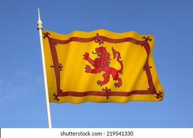 The Royal Standard of Scotland, also known as the Banner of the King of Scots or more commonly the Lion Rampant of Scotland, is the Scottish Royal Banner of Arms.