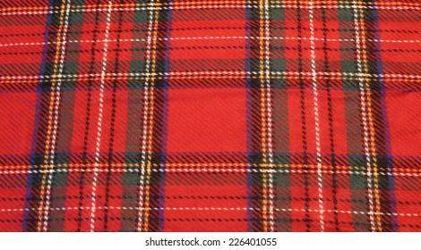 Royal Stewart Tartan plaid background