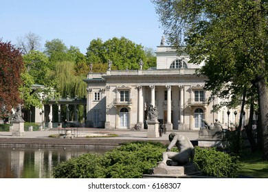 Royal summer residence in Lazienki Park. Warsaw, Poland