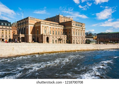 Royal Swedish Opera building exterior, Norrmalm, Stockholm, Sweden, Europe