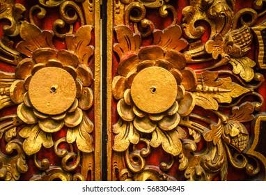 Royal Ubud Palace beautiful interior - Bali, Indonesia