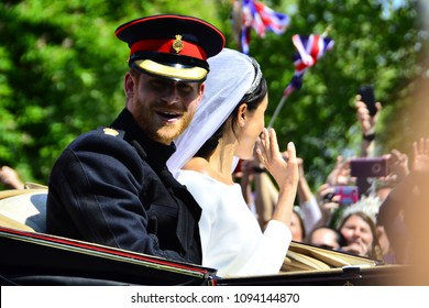 Royal Wedding. Windsor Castle.Saturday 19 May 2018.Prince harry and Ms.Meghan Markle