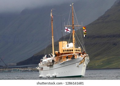 The Royal yacht - 'Kongeskibet Dannebrog. Residence of the Danish Royal Family.